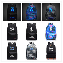 Luminous Alan Walker bag Faded Car Motorcycle Backpacks Electronic Music DJ Popular logo Cool