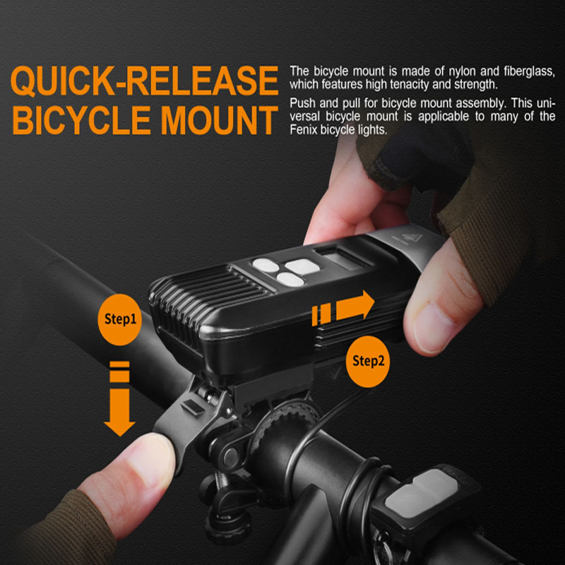 1800 Lumens Fenix BC35R Cree XHP50 Neutral White LED All round USB Rechargeable Bicycle Light with OLED screen