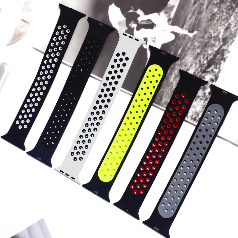 Solo Loop strap For Apple Watch Band 44mm 40mm 38mm 42mm Breathable silicone Elastic Belt bracelet band iWatch Series 3 4 5 SE 6 3