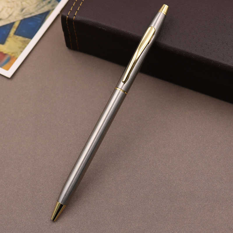 Stationery Metal Ballpoint Signature Pen Writing Supplies Stainless Steel