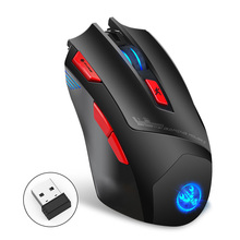 7 кнопок 4800DPI мышь Backlight Сид 2.4 G беспроводной домашний офис игровой портативный компьютер ноутбук оптическая мышь