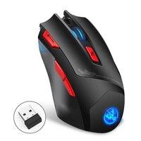 7 botões 4800 dpi led backlight mouse 2.4g sem fio casa escritório gaming mouse portátil computador óptico ratos