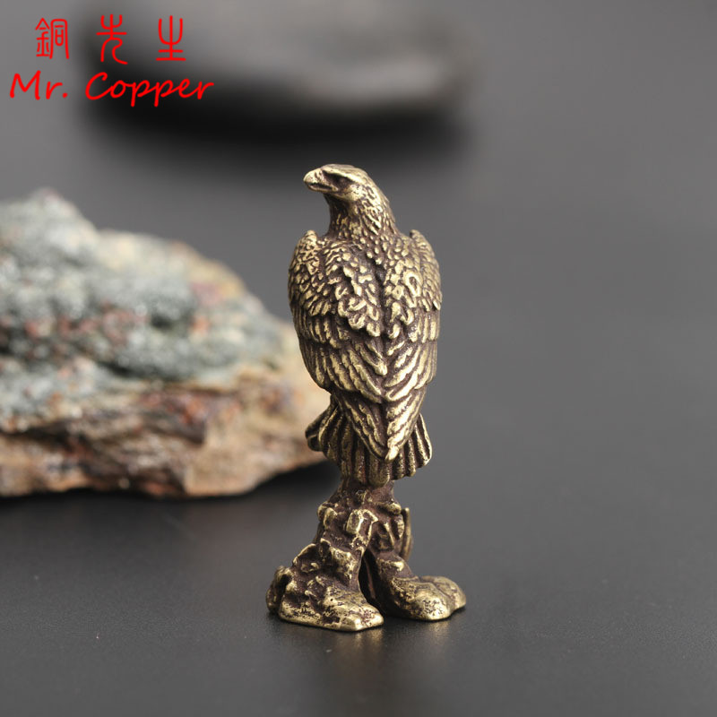 Chinese Antique Brass Eagle Home Decoration Study accessories