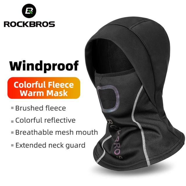 ROCKBROS Winter Cycling Mask Fleece Thermal Keep Warm Windproof Cycling Face Mask Balaclava Ski Mask Fishing Skiing Hat Headwear
