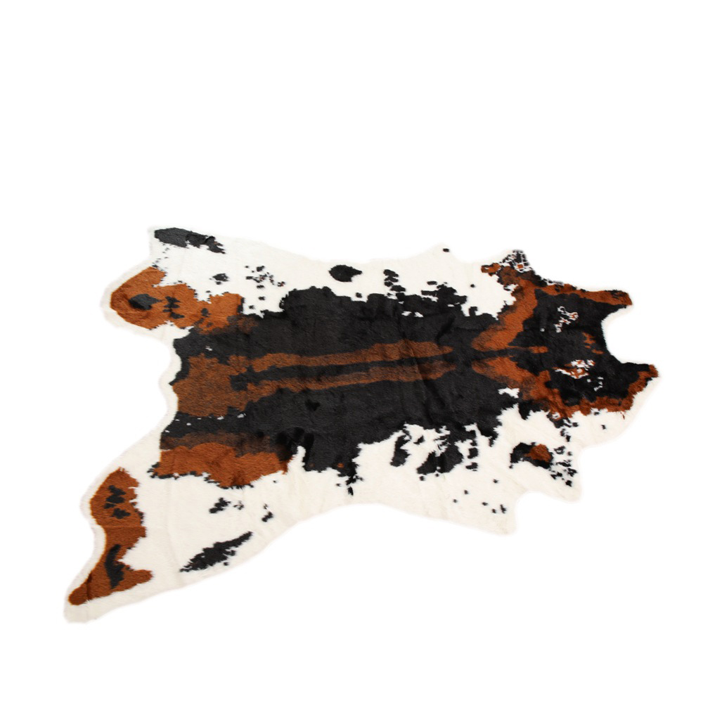 1pc Simulation Zebra/Cow Printed Carpet Velvet Imitation Leather Rugs Cowhide Animal Skins Natural Shape Carpets Decoration Mats