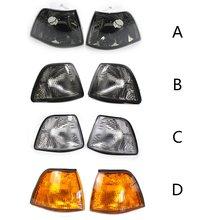 Левый и правый угловой светильник сигнала поворота с желтым/дымовым/белым/объективом