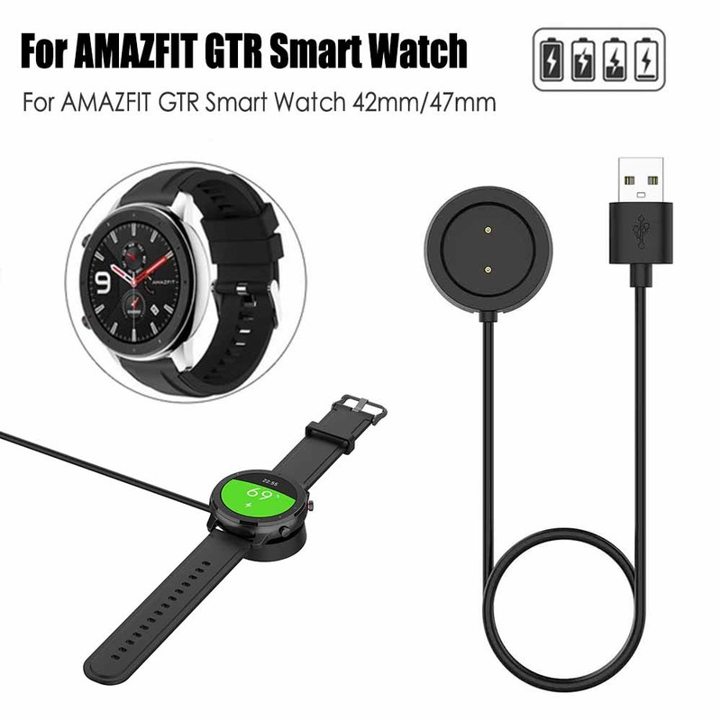 Replacement USB Magnetic Charging Dock Cable For Xiaomi Huami Amazfit GTR 42/47mm 1909 1901 Watch Charger Smart Watch Accessorie