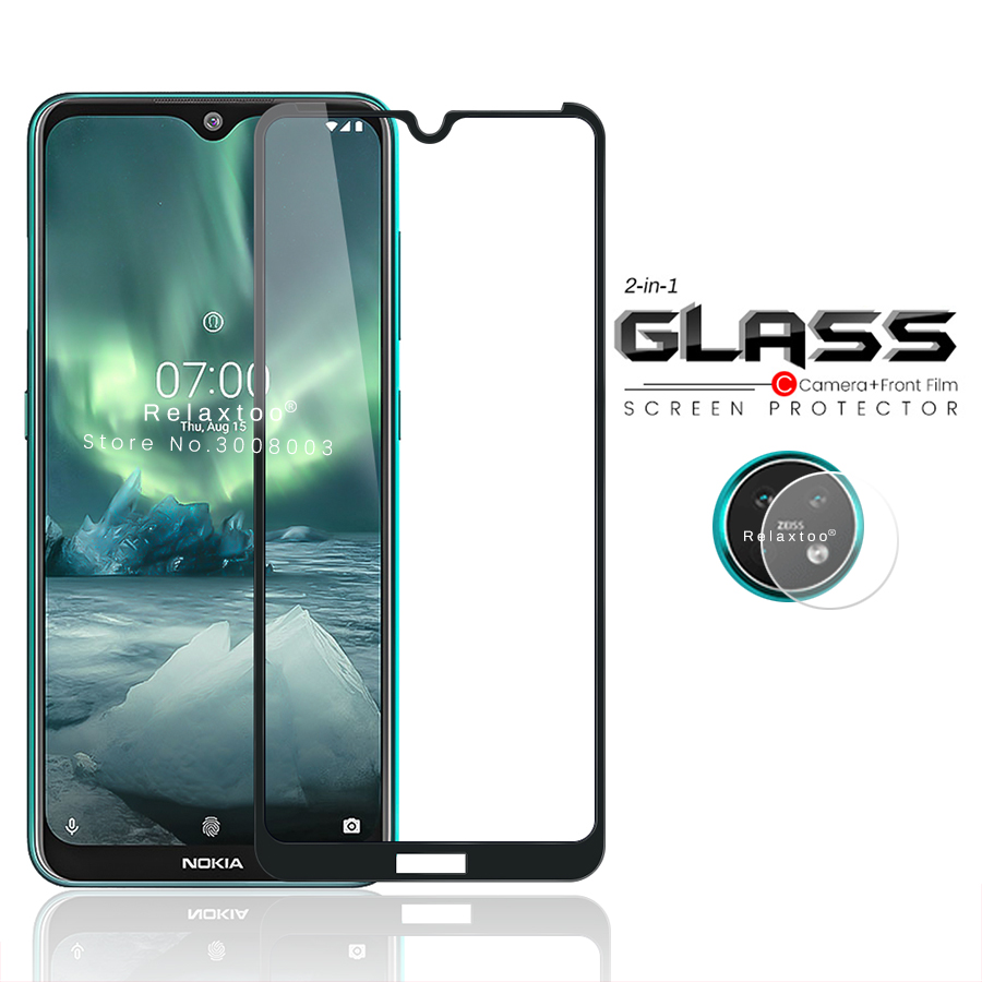 2-in-1 Camera Glass Protector For Nokia 7.2 6.2 3.2 2.2 Protective Tempered Glasses On For Nokia7.2 Nokia6.2 Nokia3.2 Nokia2.2