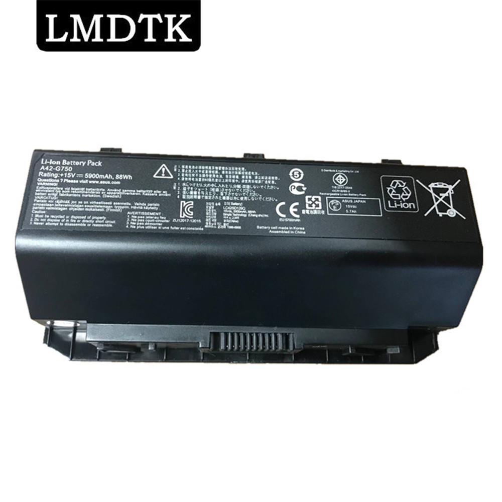 LMDTK New A42-G750 Laptop Battery FOR ASUS ROG G750 Series G750J G750JH G750JM G750JS G750JW G750JX G750JZ CFX70 CFX70J 8 CELLS