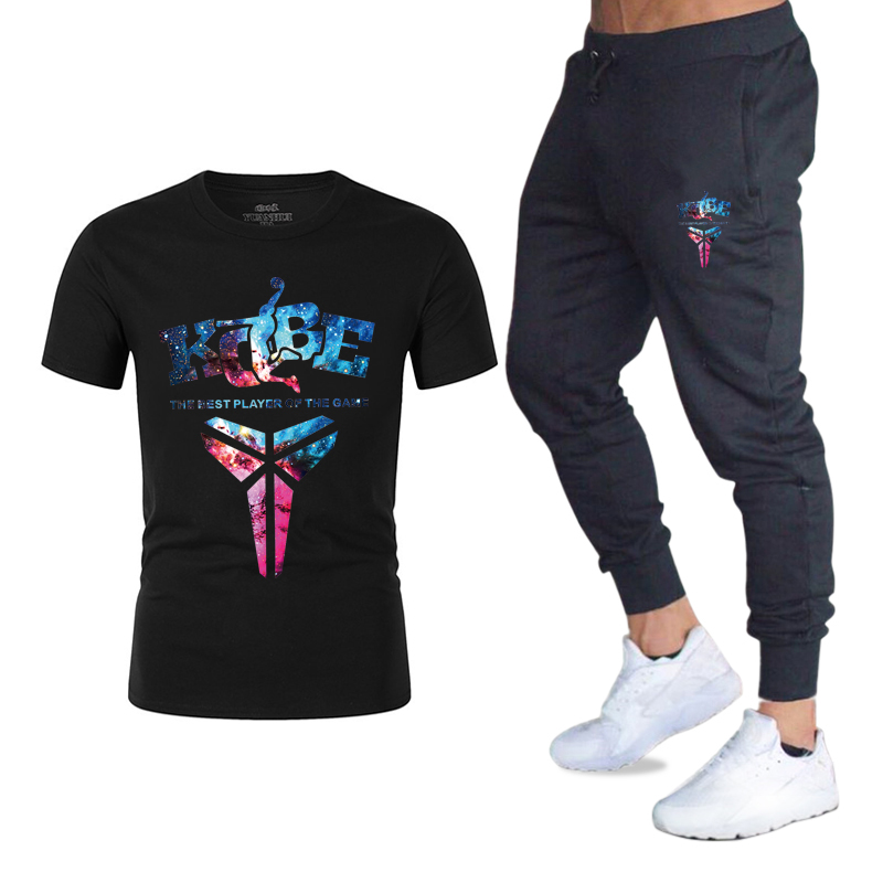 Summer Hot Sale New Men's Sets T Shirts+Pants Two Pieces Sets Casual Tracksuit Male 2020 Casual Tshirt Fitness Trousers Men