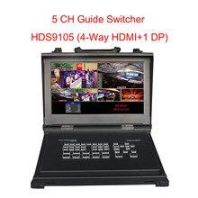 Switcher Video device ewell HDS9105 Supporta 4 ingressi di Segnale HDMI + 1 DP a Cinque Canali ad alta Definizione per trasmiss