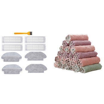 Awans! 1 zestaw filtr HEPA Mop tkaniny dla Xiaomi Mijia STYJ02YM i 30 sztuk ręczniki kuchenne ściereczki tanie i dobre opinie FGHGF CN (pochodzenie) 50 w 220 v na mokro i na sucho 0 5 L Worek papierowy do odkurzacza Brak Z torbą RĘCZNE Wycieranie i pochłaniania ziemi szczotka