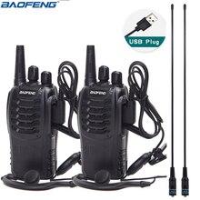 """2 шт Baofeng BF-888S мини иди и болтай Walkie Talkie """"иди и Портативный радио CB радио BF888s 16CH UHF Comunicador передатчик трансивера"""