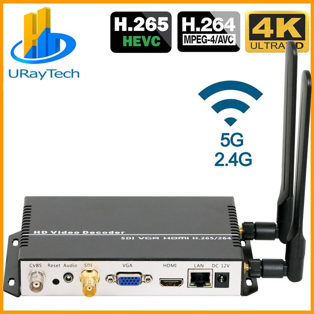 HD 3G SDI Decoder IP Streaming to SDI Video RTMP HLS RTSP Decoder H.265 H.264