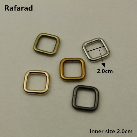 10 Pcs Per Lot Size 2.0 Cm Online Shop China Wholesale Accessories For Making Belt Buckles Alloy Rectangle Rings Fashion Button