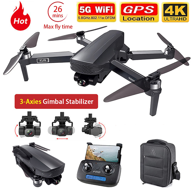 2021 NEWest SG908 Three-Axis Gimbal Drone With 4K Professional Camera 5G GPS WIFI FPV Dron Brushless Motor RC Quadcopter PKSG907 1