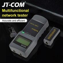Фирменная Новинка SC8108 ЖК-дисплей сетевой тестер Измеритель Портативный LAN телефонный кабель метр тестер с ЖК-дисплей Дисплей RJ45