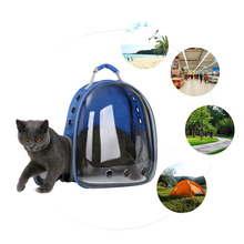Pet Portable Carrier Backpack Breathable Design Durable Space Capsule Travel Dog Cat Bag Transparent Dog Carrying Supplies