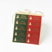 100pcs/lotChristmas Tree Red&Green  Merry Christmas Gift Package Decoration Label Stickers Scrapbooking