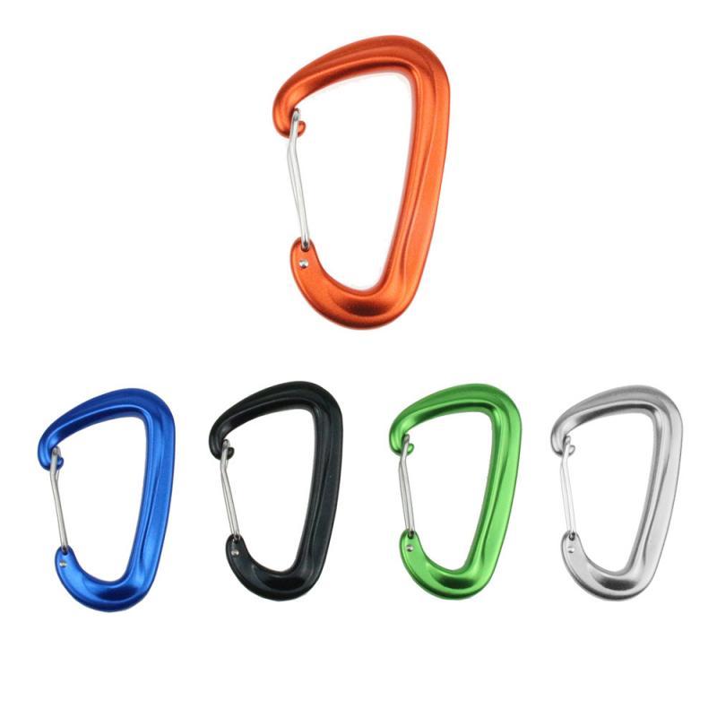 1PCS Durable 12KN D Carabiner Key Aluminum Wire Gate Spring Clip Locking Backpack Hammock Camping Hiking Climbing Equipment #SD