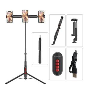Image 5 - BlitzWolf bluetooth Selfie Stick Photography Lighting LED Ring Light Lamp Stand for DSLR Camera Photography Ring Light projector