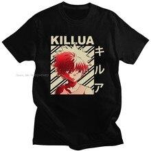 Camisa de algodão de manga curta dos homens do vintage do caçador x hunter tshirt de manga curta dos homens verão killua zoldyck t-shirts anime mangá japão caçadores hxh t