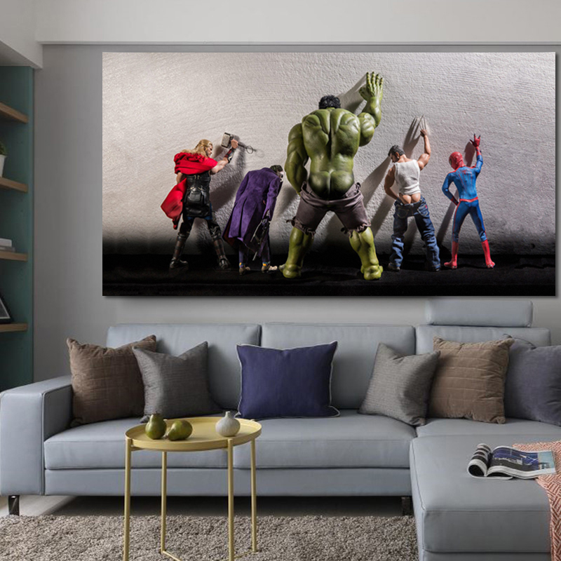 RELIABLI ART The Avengers Super Heros Posters And Print Wall Art Big Size Canvas Pictures Modern Animation Pictures Unframed