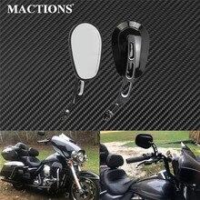 Motorrad Rückansicht Seiten Spiegel Schwarz 8mm Für Harley Touring Dyna Softail Sportster XL 883 1200 Breakout Road King dünne FLS