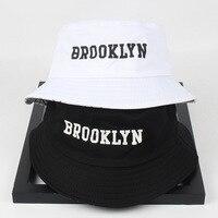 2020 nuevo de las mujeres de los hombres de Brooklyn sombrero de cubo de impresión de algodón Hip Hop pescador Panamá sombrero de sol al aire libre calle Casual visera sombrero del cubo