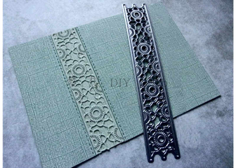 1 PC Garis Strip Desain Metal Cutting Dies Tembakan Mesin Pemotong Diy Scrapbooking Embossing Folder Suit