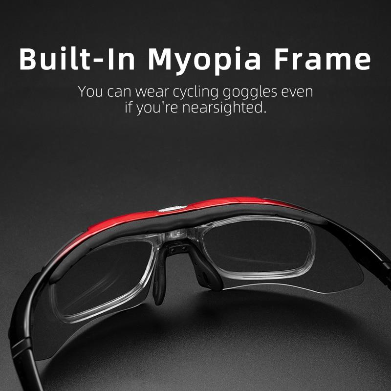 ROCKBROS Polarized Sports uomo occhiali da sole occhiali da ciclismo su strada Mountain Bike bicicletta protezione occhiali occhiali 5 lenti 2