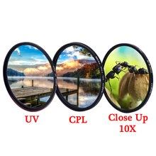 Knightx uv cpl polarizador, colse up macro câmera filtro de lente dslr 49mm 52mm 55mm 58mm 62 acessórios de luz dslr 72mm 77mm, 67mm