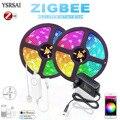 Контроллер светодиодный Zigbee RGBW 5050, IP65, RGBW, RGBWW, 4 в 1 + источник питания 12 В/24 В для zigbee 3,0 Hub-e Echo Plus