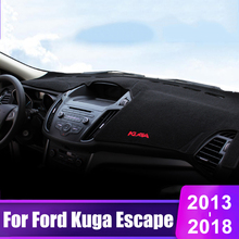 car floor mats case for ford escape kuga maverick 2015 customized auto 3d carpets custom fit foot liner mat car rugs black For Ford Kuga Escape 2013 2014 2015 2016 2017 2018 LHD Car Dashboard Cover Mats Avoid Light Pad Instrument Platform Desk Carpets