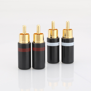 Image 2 - Hifi 4pcs gold plated Rca plug audio AMP interconnect rca plug Socket connector