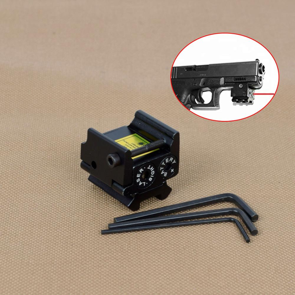 Tactical Mini Adjustable Compact Red Dot Laser Sight For Glock 1911 Pistol Rifle Hunting Laser Sight Fit 20mm Picatinny Rail-0