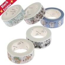 Kawaii печать панда животные маскирующая васи лента декоративная клейкая лента Decora DIY Скрапбукинг наклейка этикетка канцелярские товары