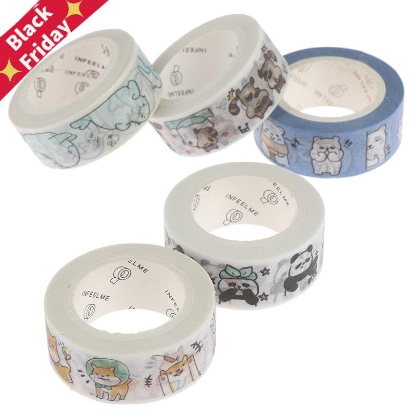 Kawaii Seal Panda Animals Masking Washi Tape Decorative Adhesive Tape Decora DIY Scrapbooking Sticker Label Stationery