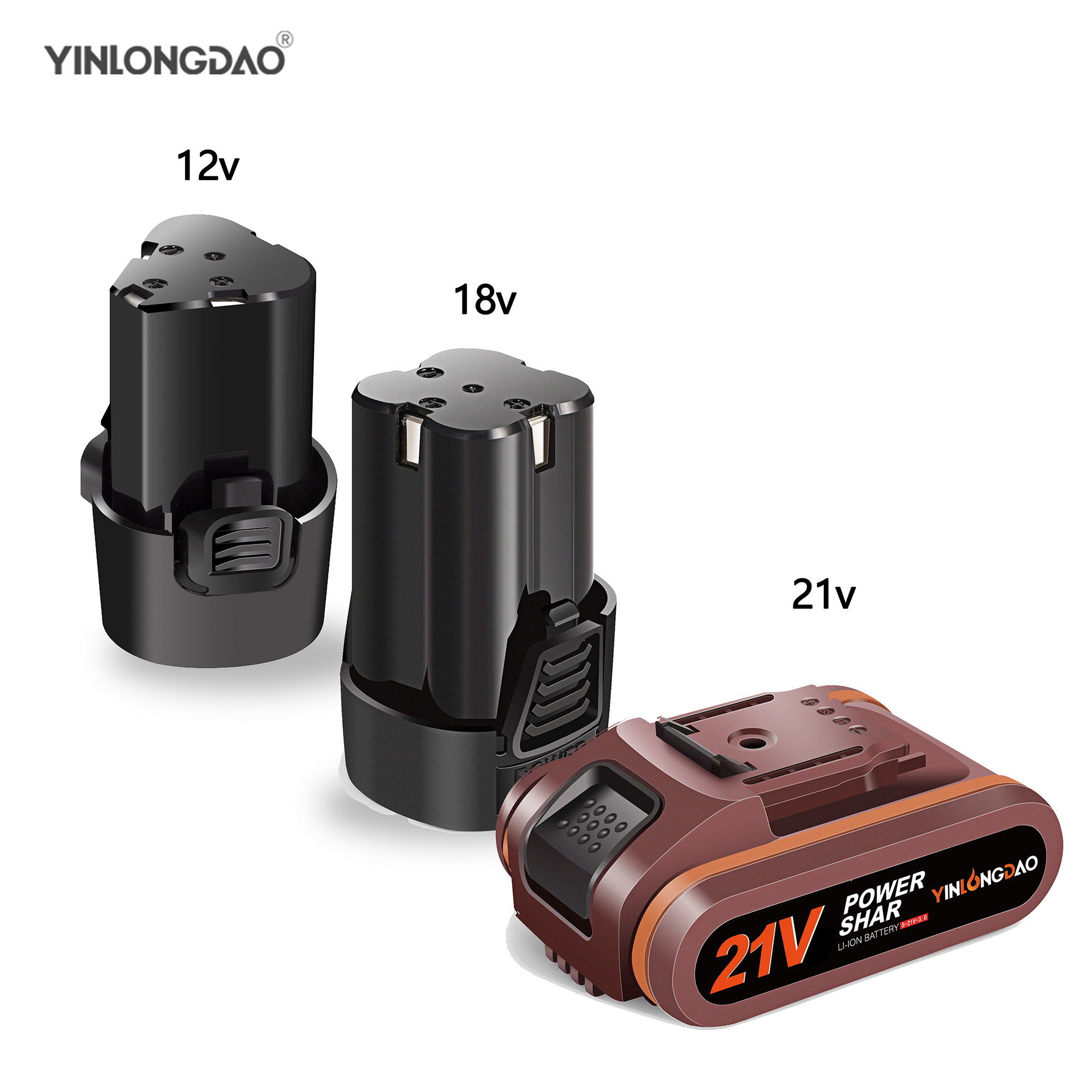 12V18V21V Lithium Battery  Electric Screwdriver Drill Driver Battery Power Tools Accessories Cordless Screwdriver ElectricDrill