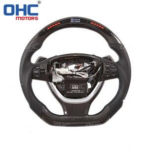 Светодиодный дисплей на рулевое колесо, совместимый с BMW F10 5 Series F12 F01, светодиодный, с производительностью, рулевое колесо из углеродного вол...