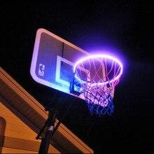 1 шт. Солнечный баскетбольный обод светодиодный баскетбольный обруч для игры в ночное время, аксессуары для стрельбы