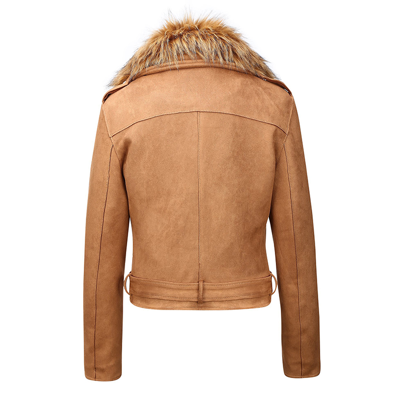 H5264a1697d6d4555bf1bcb6a725dff99v Giolshon 2021 New Winter Women Thick Warm Faux Suede Jacket Coat With Belt Detachable Faux Fur Collar Leather Jackets Outwear