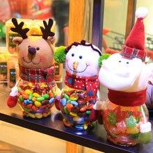 Christmas Candy Jar Santa Claus /Snowman/Elk Kids Christmas Gift Decoration ATT