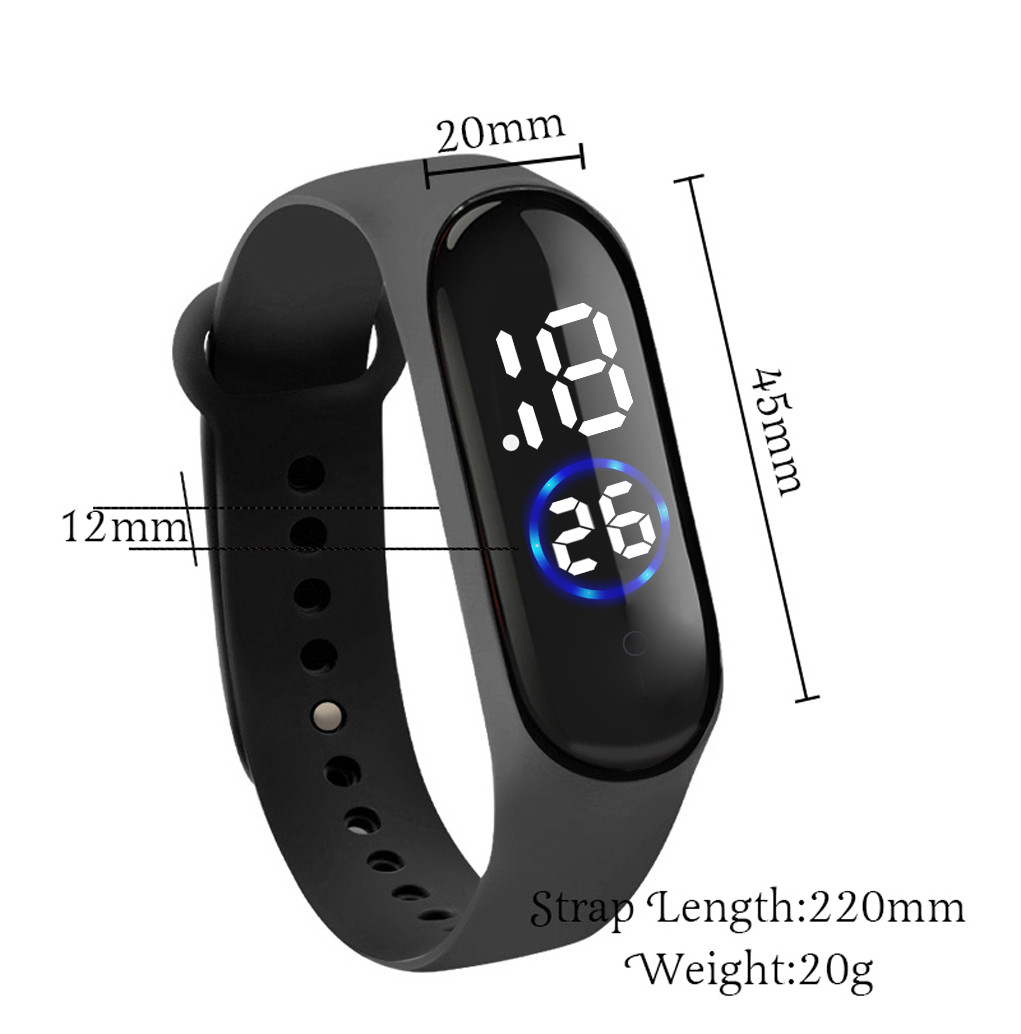 Unisex Digital LED Sports Watch Silicone Band Wrist Watches Men Children Fashion Sport Watch Electronic Digital Watch Gifts @5