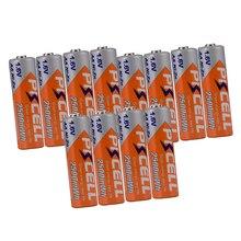 12 pièces PKCELL NIZN AA batterie Rechargeable aa ni zn 2500mwh 1.6v NIZN Batteries pour appareils photo numériques flash lumières jouet électrique