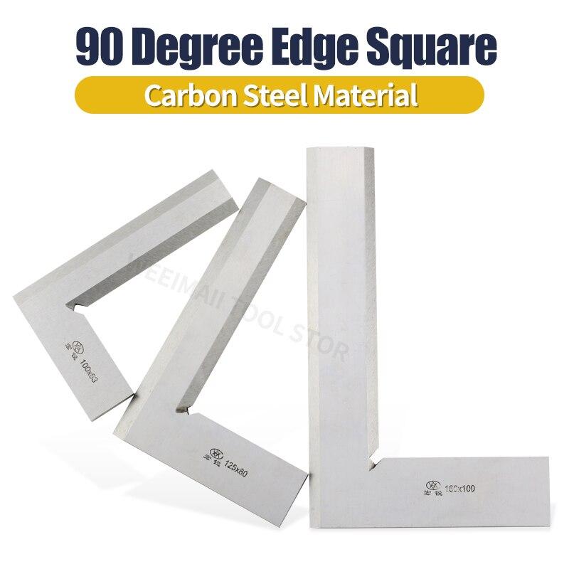Herramientas de medición de escuadra de borde de cuchillo, medidores 63x40 80x50 100x63 125x80 160x100 200x125 250x160MM, reglas de ángulo recto de 90 grados