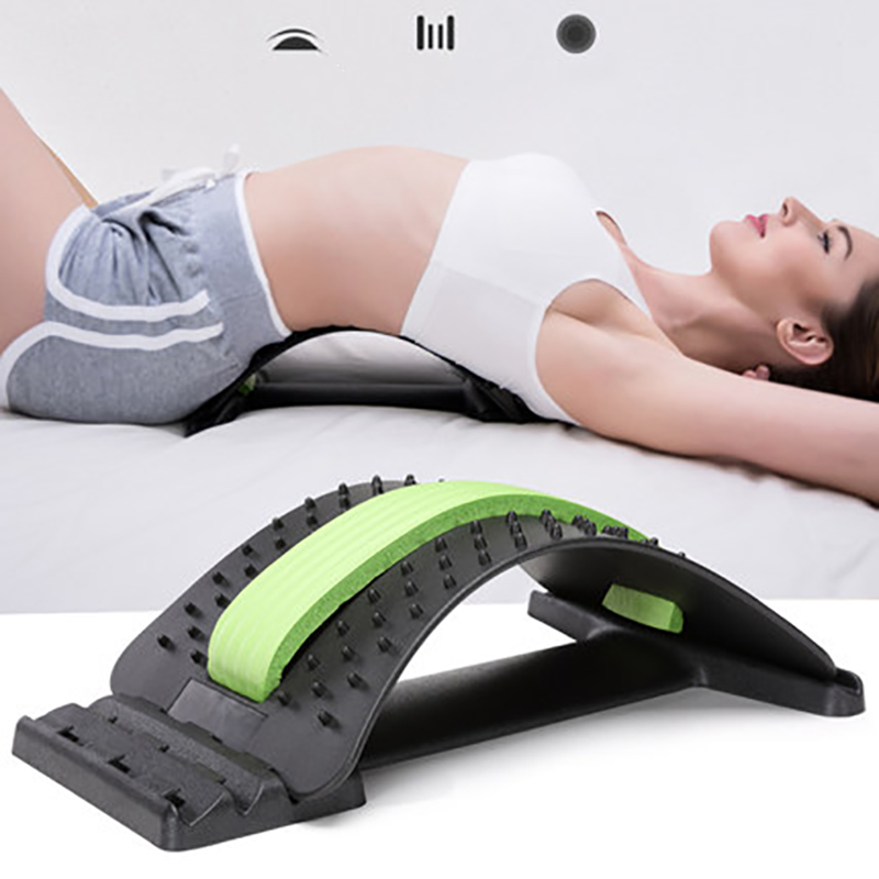Multi-Level Back Stretching Device Back Massager Lumbar Support Stretcher Spinal Pain Relieve Muscle Acupuncture Relief