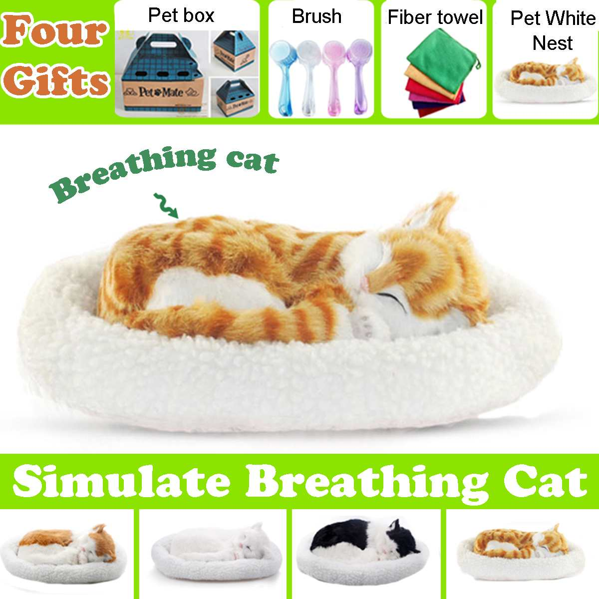 Simulation Breathing Dog Control Action Figures Battery Soft Doll Stuffed Plush Animal Toy Girls Kids Lover Children Gift