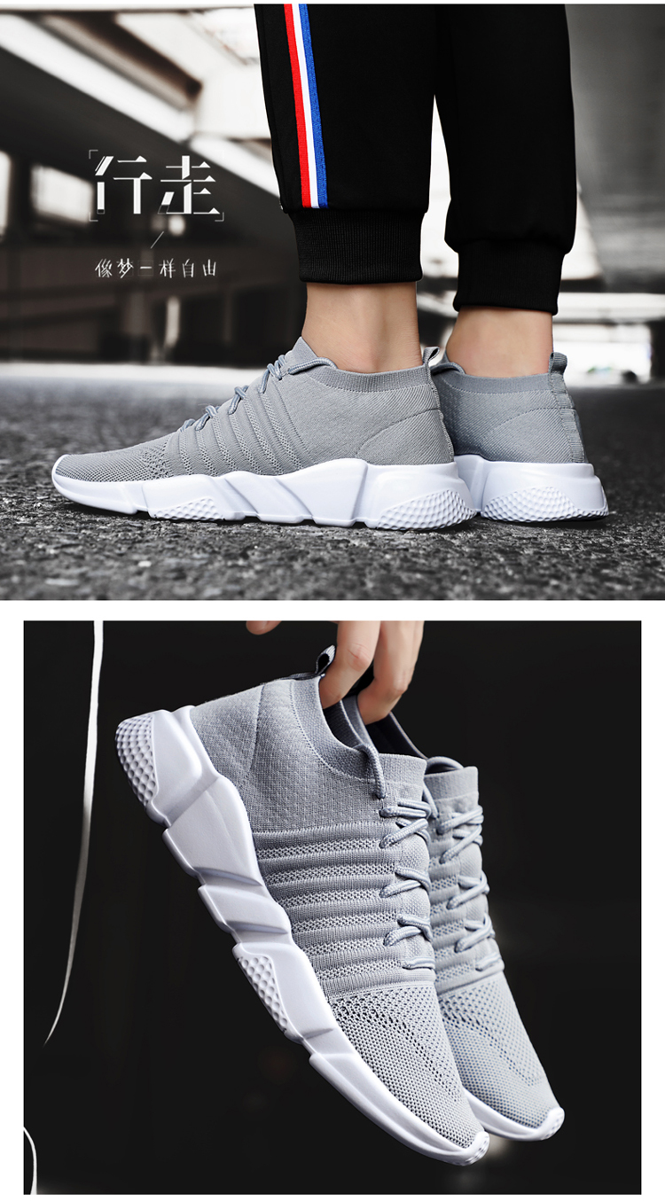 H5265275c7dda4f7dbd0b2f982b4fa06aV - Men Sneakers Lightweight Flykint Casual Shoes Men Slip On Walking Socks Shoes Trainers Mesh Flat Homme Big Size Tenis Masculino