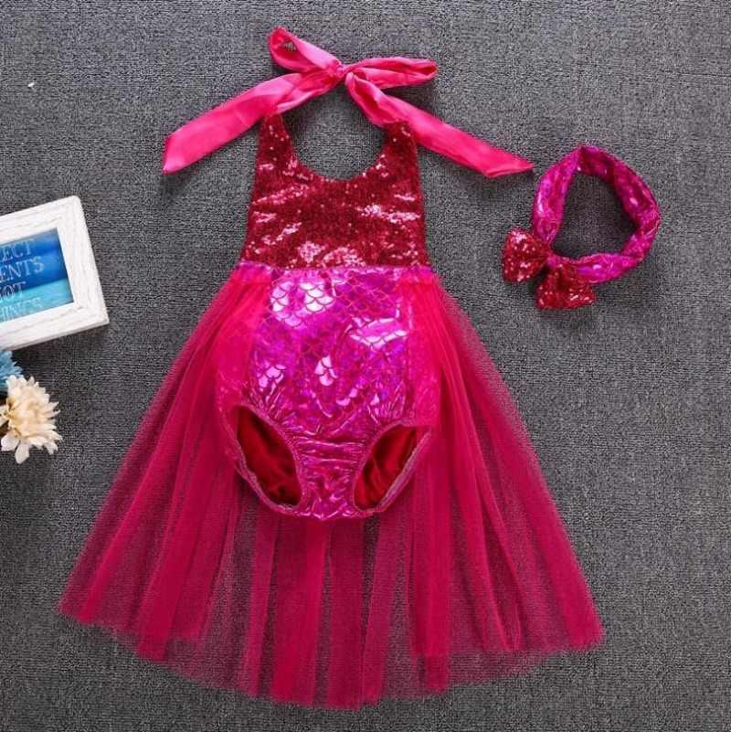 Kleine Meerjungfrau Badeanzug Prinzessin Cosplay Kostüm Baby Mädchen Schwimmen Kleid Kind Die Fantasia Ariel Meerjungfrau Schwanz Kleid Kinder